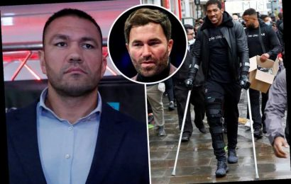 Anthony Joshua's fight with Kubrat Pulev WILL go ahead despite four-week knee lay-off, says Eddie Hearn – The Sun