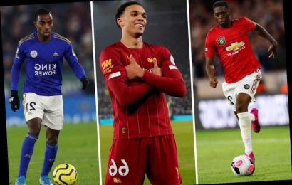 Top 5 Premier League right-backs revealed with Trent Alexander-Arnold in top spot ahead of Man Utd ace Aaron Wan-Bissaka – The Sun