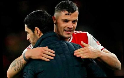 Arteta delighted Arsenal fans can hear 'natural leader' Xhaka's booming voice but dodges captaincy question – The Sun
