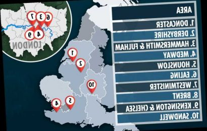The 10 towns and counties where coronavirus cases are rising and risking more local lockdowns