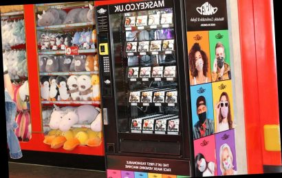 You can now buy face masks from vending machines – but they cost up to £8