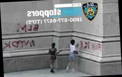 NYPD releases photos of St. Patrick's Cathedral graffiti suspects