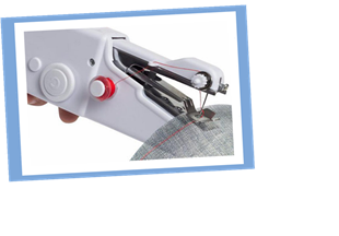 Stitch up clothes easily with this portable mini sewing machine