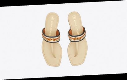 These Chain-Link Tory Burch Sandals Are Over 40% Off — In 2 Colors!