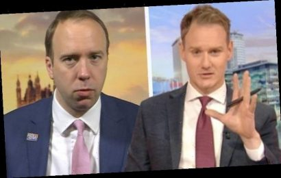 Dan Walker makes Matt Hancock squirm as BBC Breakfast host forced to issue warning