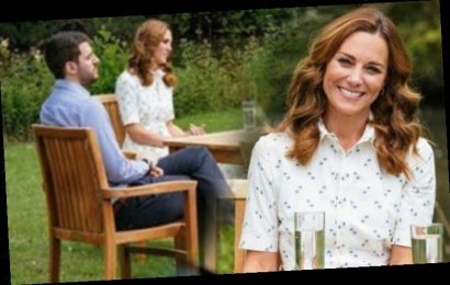 Kate Middleton wears a mystery dress and shows off new hair colour for COVID-19 talks