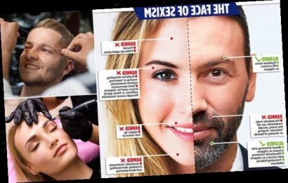 Men can also have their EYEBROWS groomed but women still can't