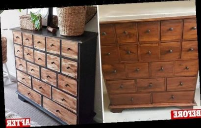 Savvy mum transforms a secondhand chest of drawers