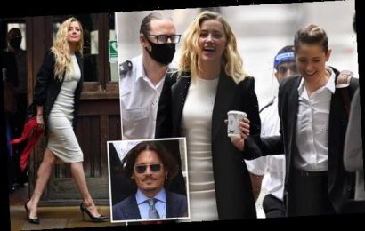 Amber Heard arrives at court for closing stages of libel trial