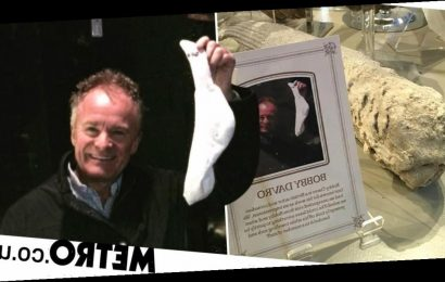 Bobby Davro's petrified sock on display at England's oldest visitor attraction