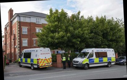 Woman, 38, found dead in flat with serious neck injuries as man arrested on suspicion of murder