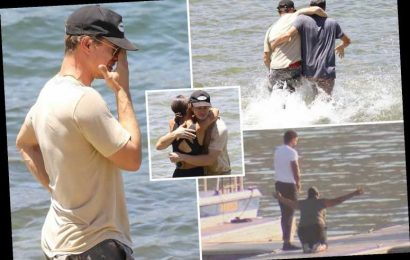 Naya Rivera's mum drops to her knees and ex Ryan Dorsey wades into water in grief at dock where Glee star disappeared – The Sun