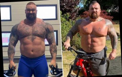 Eddie Hall reignites Hafthor Bjornsson feud and says he 'wouldn't p*** on him if he was on fire' ahead of boxing bout