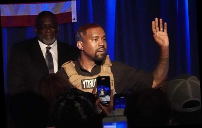 Kanye West gives emotional anti-abortion rant at campaign event