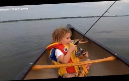 Little boy overwhelmed with emotion at first fish catch: 'First day of my whole life!'