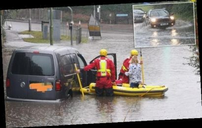 Drivers rescued, roads submerged and shopping centres evacuated