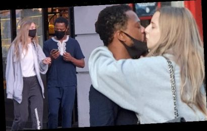 Married footballer Patrice Evra shares kiss with Margaux Alexandra