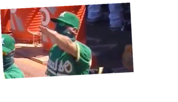 Oakland A's Bench Coach Ryan Christenson Performs Nazi Salute In Victory Celebration