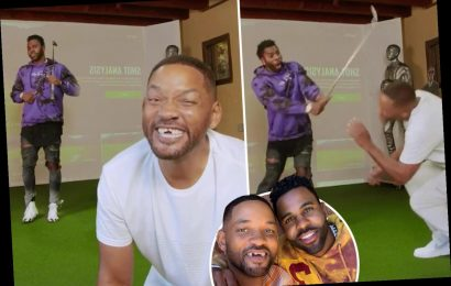 Jason Derulo 'knocks Will Smith's front teeth out' as golf lesson goes wrong in hilarious TikTok