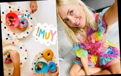 Holly Willoughby decorates doughnuts with her children as she admits she's desperate for 'distractions' in quarantine