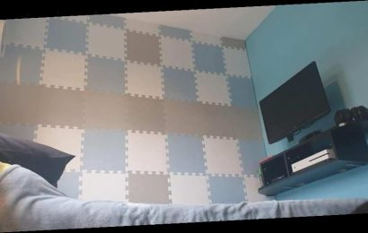 Mum creates an epic sound-proof gaming room for her son using Aldi's £6.99 play mats on the wall