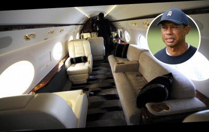 Inside Tiger Woods' £48m Gulfstream G550 private jet with luxurious seats for 18 passengers and top speed of 680mph