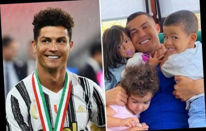 Cristiano Ronaldo shows off new buzz cut hair as Juventus star is hugged by his adorable kids in cute Instagram post