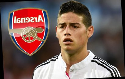 Arsenal desperate for James Rodriguez transfer ahead of Atletico and PSG with star's Real Madrid career finished