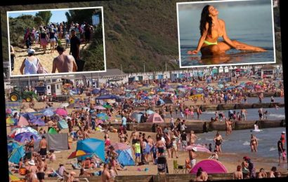Bournemouth tells visitors to STAY AWAY from 8 beaches as Brits keen for 39C hottest day EVER run to the sun