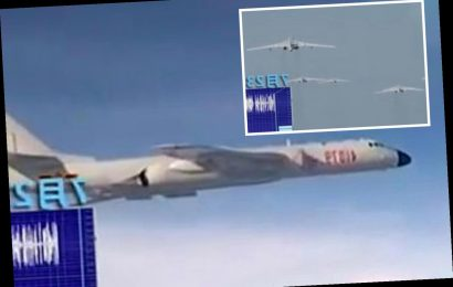 Tense moment Chinese fighter pilot intercepts US jet near Taiwan and orders plane to 'divert immediately'