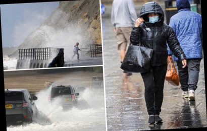 UK weather today – More torrential rain and fierce winds to soak Britain in weekend washout