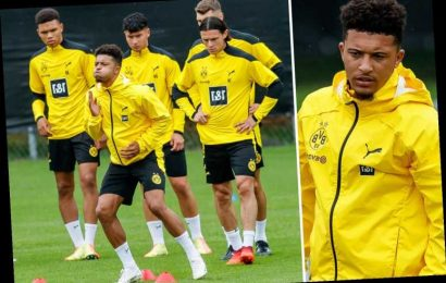 Jadon Sancho working hard in training as Man Utd transfer interest hots up but Dortmund adamant he is staying