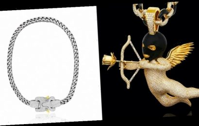 Drake Shows Off New Ski Mask Cupid Chain and Diamond-Encrusted ALYX Necklace