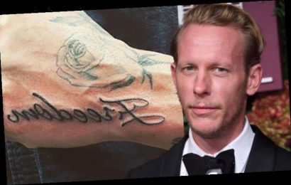 Laurence Fox showcases new 'Freedom' and 'Space' tattoos amid political party launch