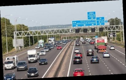 Woman injured falling from car onto M25 as she grabbed a phone video