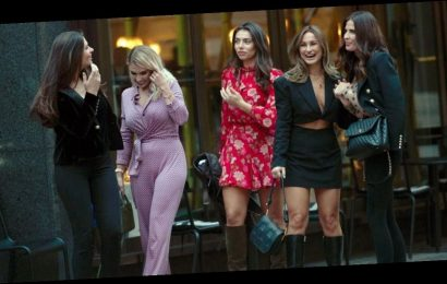 TOWIE sisters Sam and Billie Faiers demand attention in gorgeous outfits as they enjoy girls day out in Mayfair