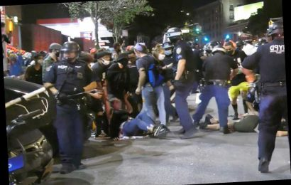 BLM protesters clash with NYPD after marching onto George Washington Bridge