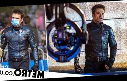 Sebastian Stan masks up for The Falcon and the Winter Soldier filming