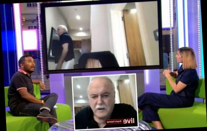 The One Show's Alex Jones speechless as John Cleese walks off mid-interview saying 'why bother?' in wind-up