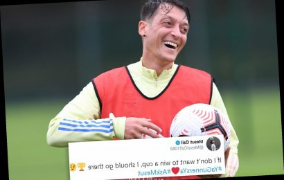 Mesut Ozil sends Arsenal fans into meltdown with savage tweet about why he would never join Tottenham