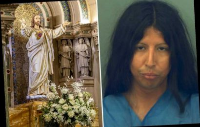 Man, 30, arrested for 'decapitating century-old Jesus statue because Messiah's skin color was too white'