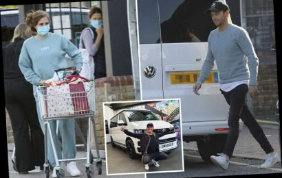 Stacey Solomon hits the shops with Joe Swash in their new camper van after learning to love the £50k 'monstrosity'