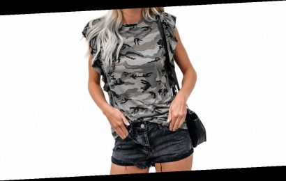 This Ruffled Camo Top Is So Much More Than a T-Shirt