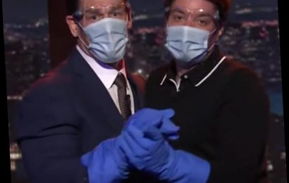 Watch Jimmy Fallon and John Cena Serenade Each Other During Tonight Show Reunion