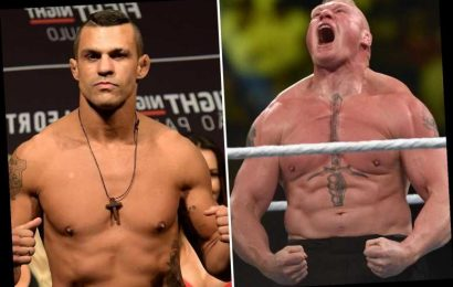Brock Lesnar slammed as a 'fraud in MMA' and called out for BARE-KNUCKLE fight by Vitor Belfort after quitting WWE