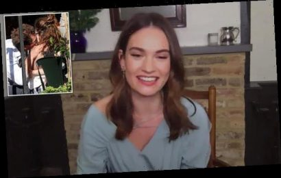 Lily James makes first TV appearance after Dominic West controversy