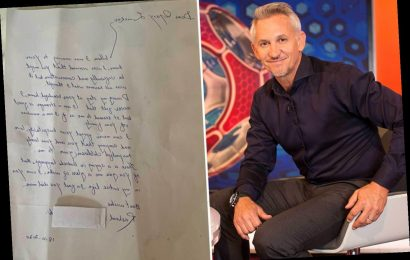 Gary Lineker shares emotional letter from 'brilliant' refugee who said 'I feel like your family' after stay at mansion