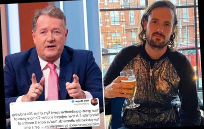 Piers Morgan tells son Spencer to 'get a grip' as they clash over lockdown – telling him to be like wartime great-gran