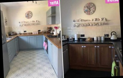 Mum who couldn't afford £5k quote for dream kitchen turns it into a pastel paradise herself for a fraction of the cost
