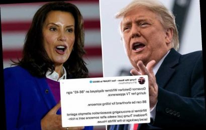 Trump campaign accuses Governor Whitmer of 'encouraging assassination attempts' on president with '8645' symbol